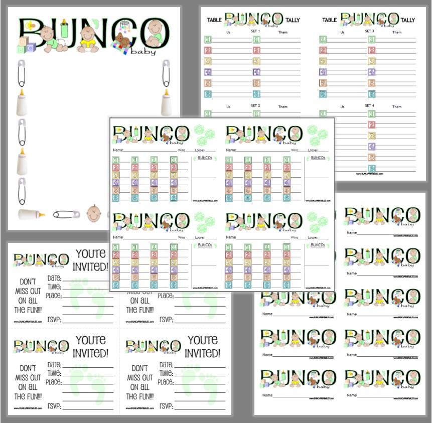 Baby Bunco - Bunco Printables