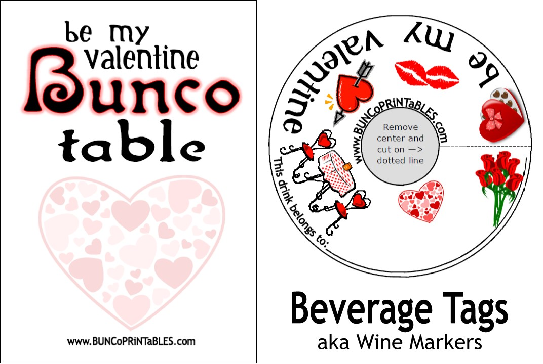 Be my Valentine Bunco - Bunco Printables