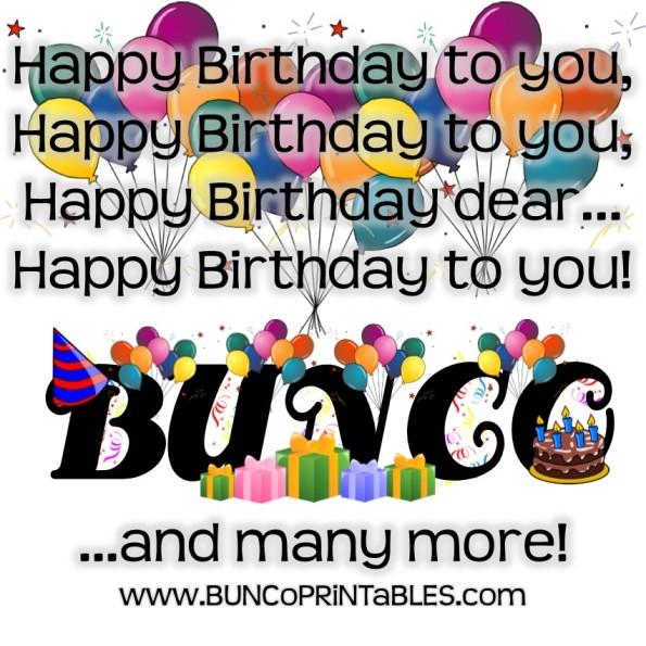 birthday bliss bunco
