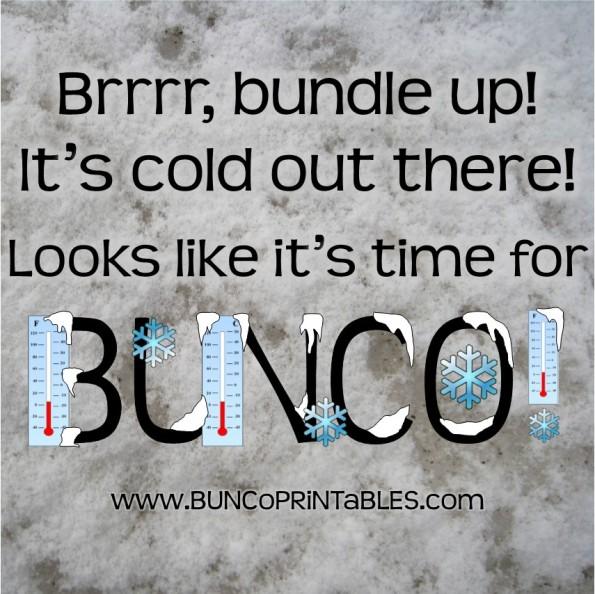 Brrrrr Bunco - Bunco Printables