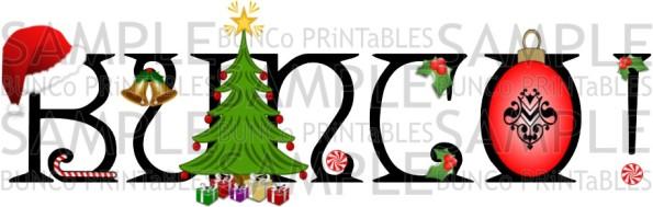 Happy Christmas Bunco - Bunco Printables