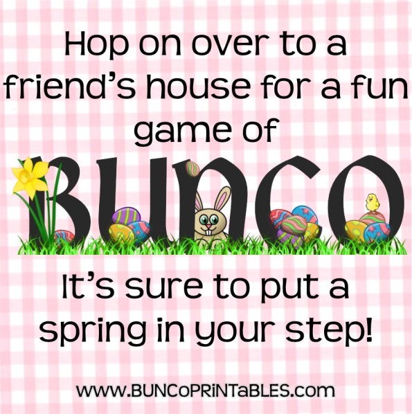 Easter Eggs Bunco Bunco Printables