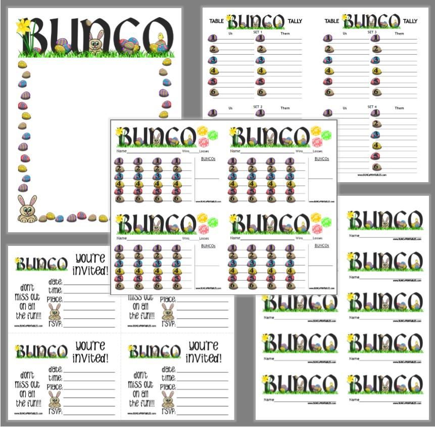 Easter Eggs Bunco Bunco Printables