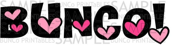 Be My Valentine Bunco Bunco Printables