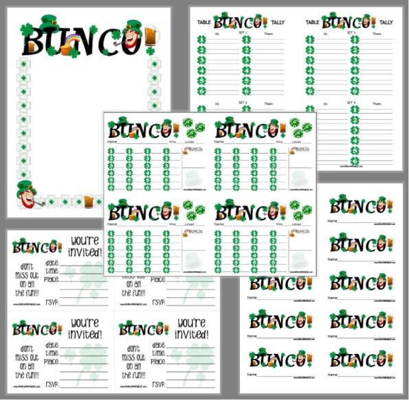 St. Patty's Day Bunco - Bunco Printables