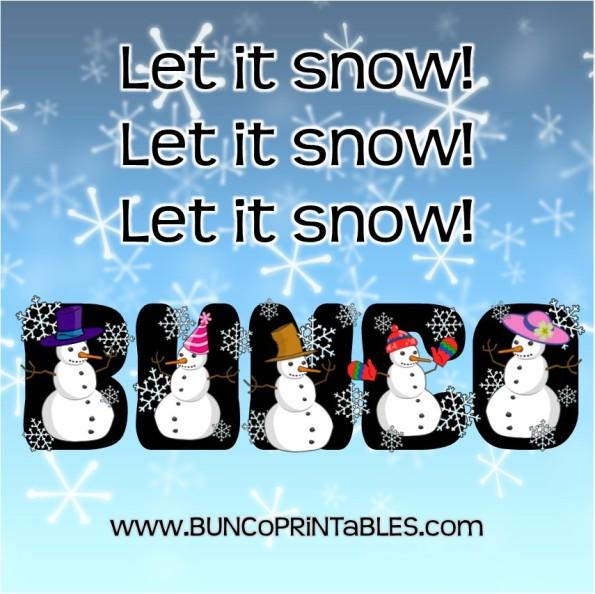 Let it Snow Bunco - Bunco Printables