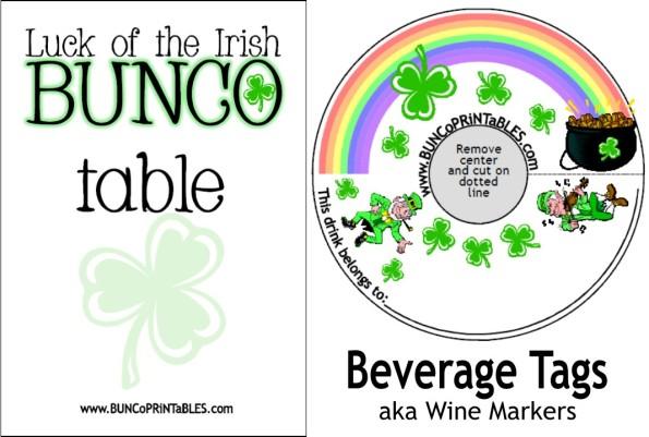 Luck of the Irish Bunco - Bunco Printables
