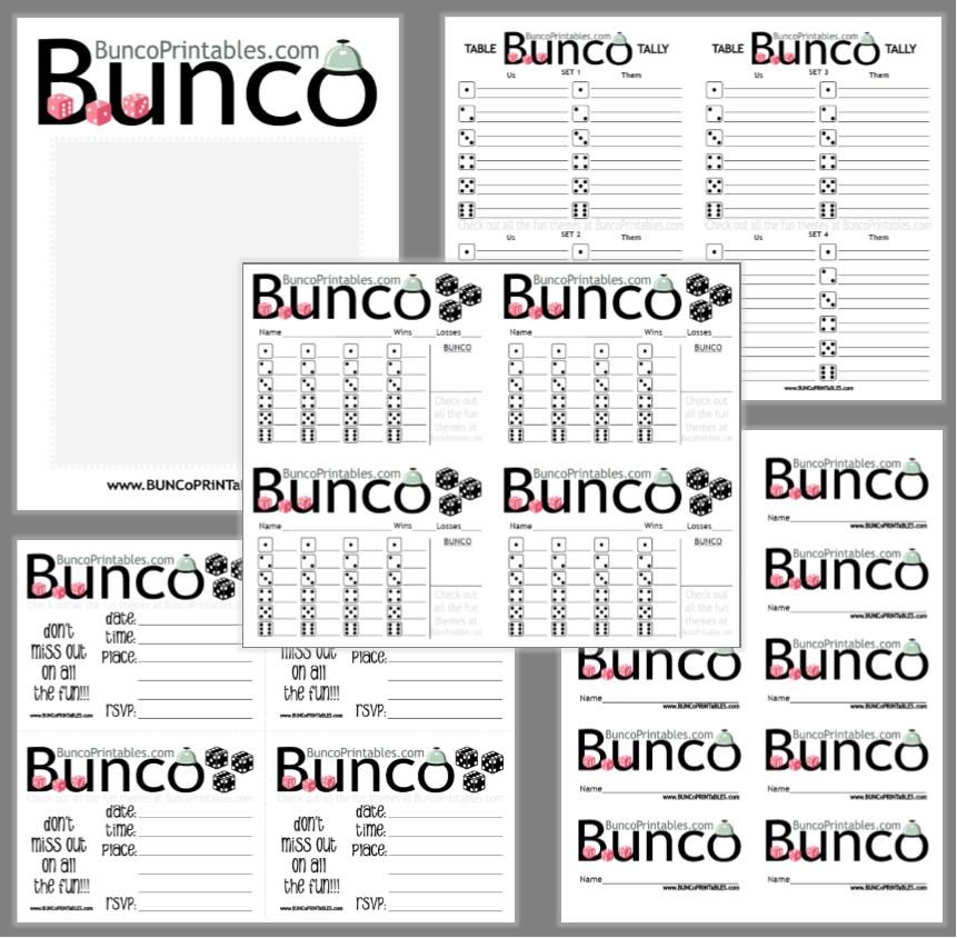 Get this FREE Bunco Set at www.BuncoPrintables.com!