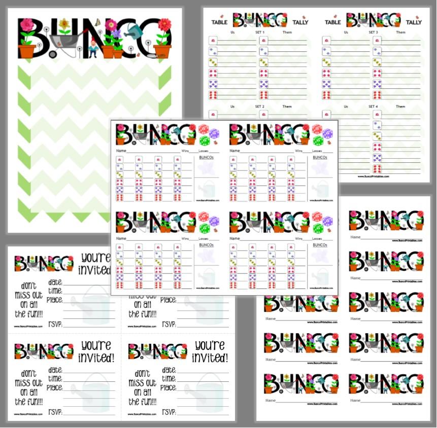 Garden Bunco Bunco Printables