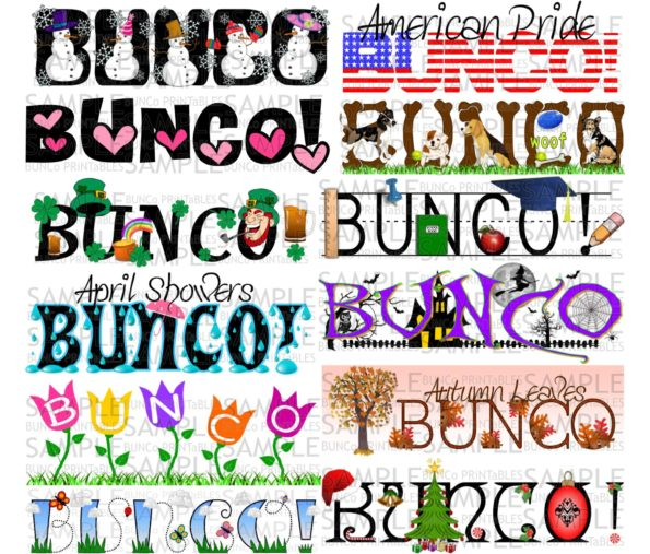 one year of bunco sets bunco printables bunco clipart pictures bunco clipart for halloween
