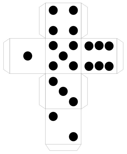 Obsessed image with printable dice template